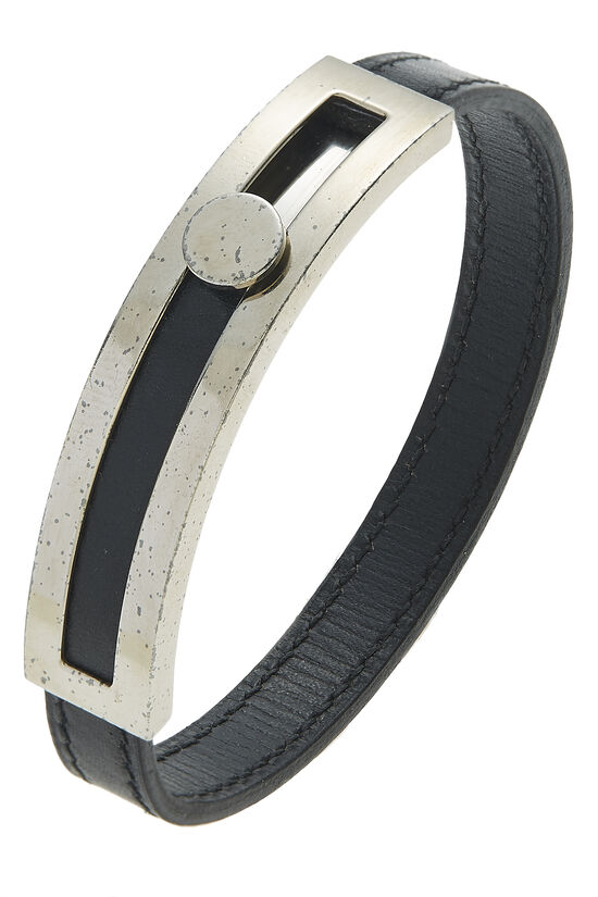 Black Leather Puspus Bracelet, , large image number 0