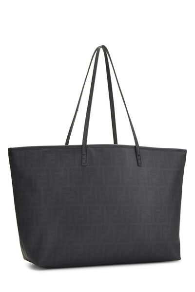 Black Zucca Coated Canvas Roll Tote Medium, , large
