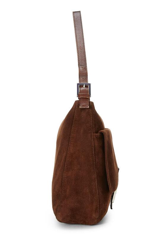 Brown Suede Shoulder Bag, , large image number 2