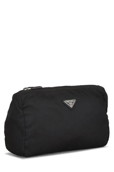 Black Nylon Zip Pouch, , large