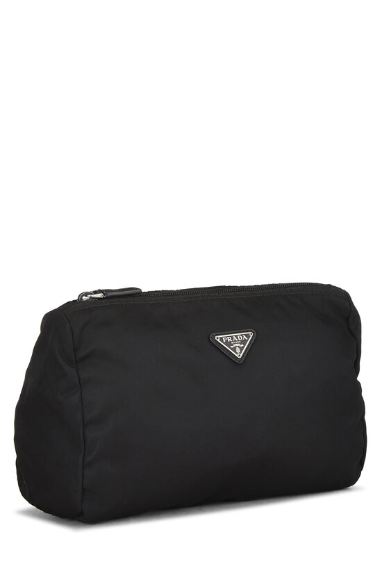 Black Nylon Zip Pouch, , large image number 1