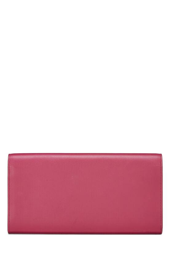 Pink Calfskin Tassel Cassandre Clutch, , large image number 3