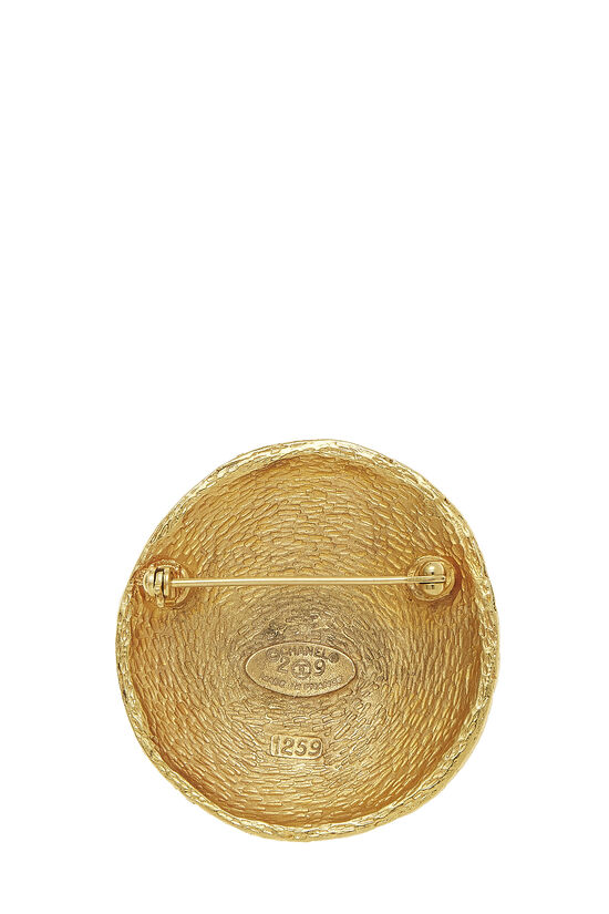 Gold Woven 'CC' Pin Large, , large image number 1