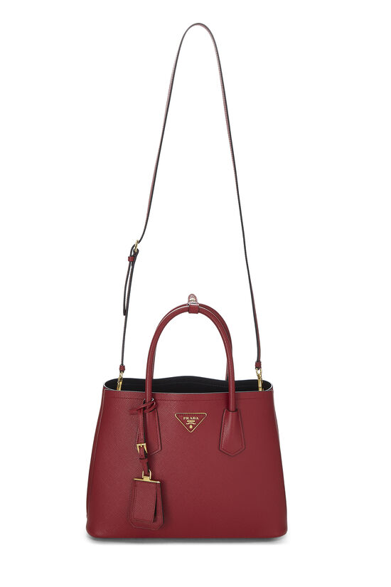 Red Saffiano Double Bag Small, , large image number 6