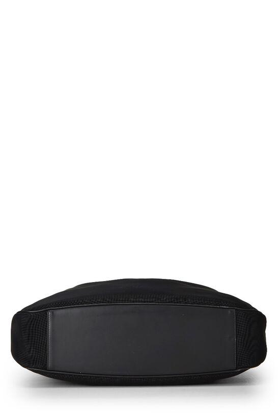 Black Mesh Bamboo Shoulder Bag, , large image number 4