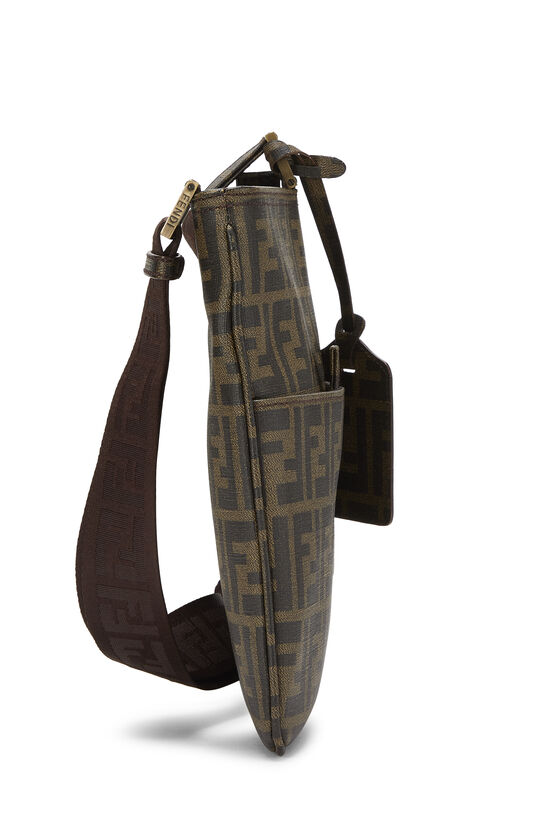 Brown Zucca Coated Canvas Messenger, , large image number 2