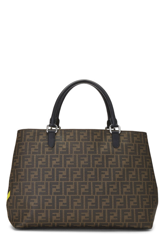 Brown Zucca Coated Canvas Roma Shopping Tote, , large image number 4