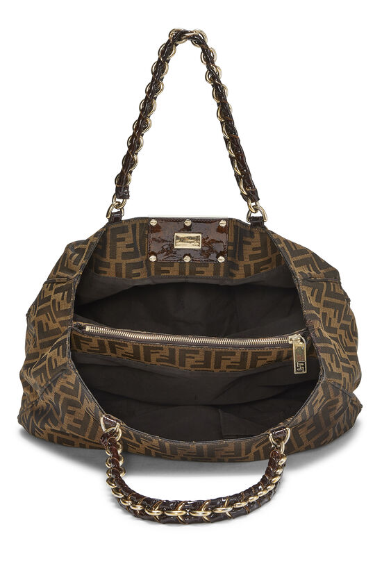 Brown Zucca Canvas Mia Hobo Large, , large image number 5