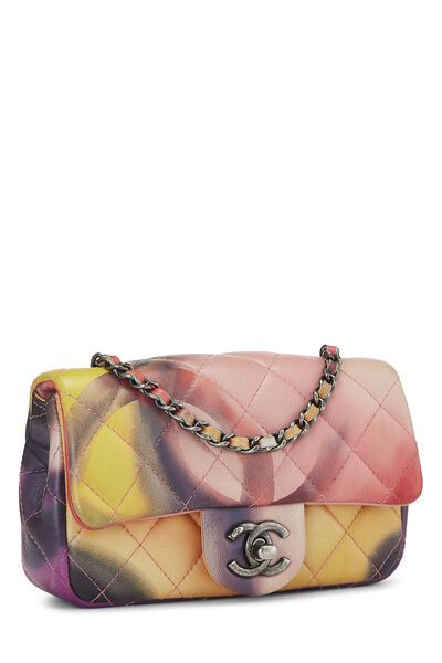 Multicolor Quilted Lambskin Half Flap Extra Mini, , large