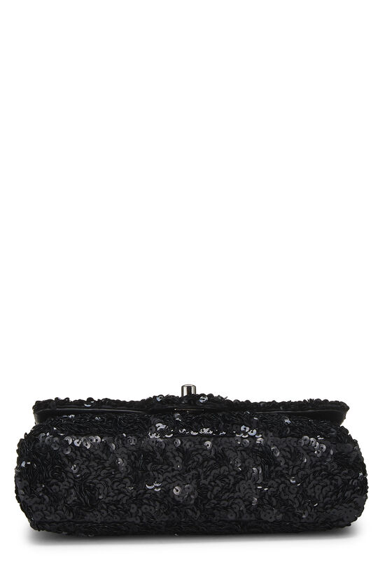 Black Sequin Half Flap Mini, , large image number 5