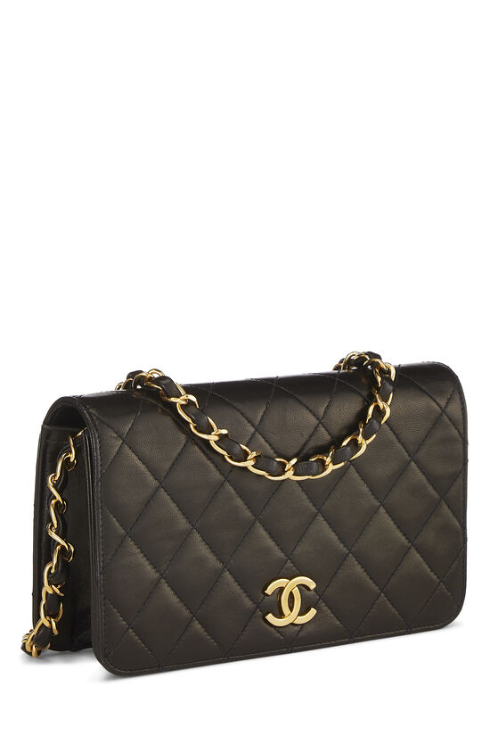 Black Quilted Lambskin Full Flap Mini, , large image number 1