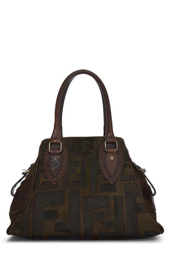Brown Zucca Pony Hair Bag Du Jour Small, , large image number 0