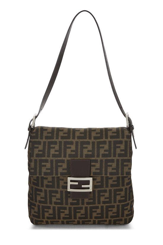Brown Zucca Canvas Shoulder Bag, , large image number 0