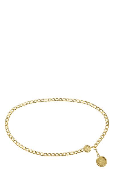 Gold 'CC' Medallion Chain Belt