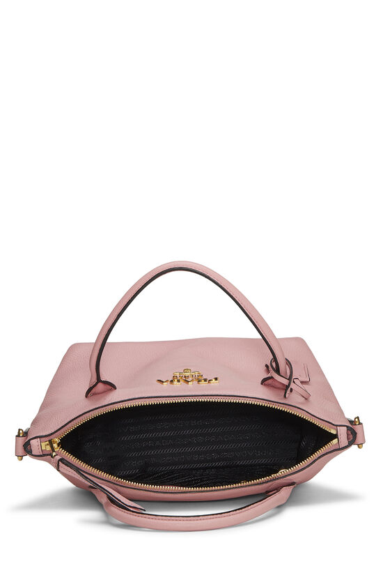 Pink Vitello Daino Handbag Small, , large image number 5