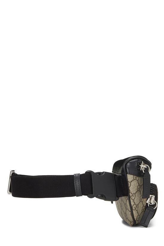 Black & Original GG Supreme Canvas Eden Belt Bag, , large image number 2