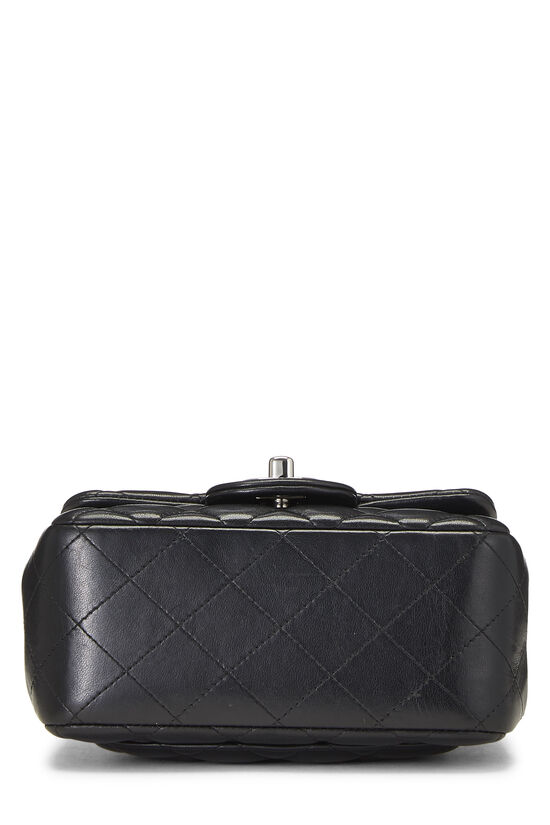 Black Quilted Lambskin Classic Square Flap Mini, , large image number 4