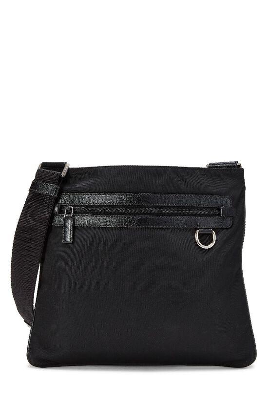 Black Nylon Messenger Bag, , large image number 0