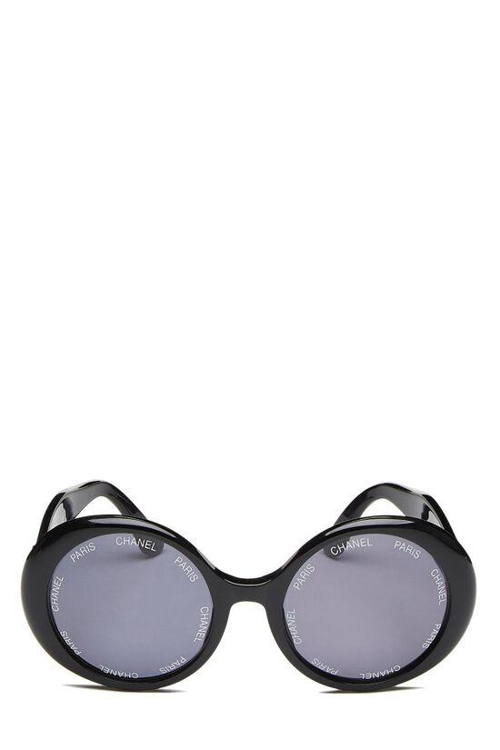 Black Acrylic Round Sunglasses, , large image number 0