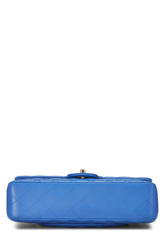 Blue Quilted Lambskin Classic Double Flap Medium, , large image number 4