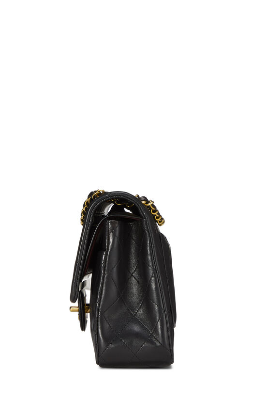 Black Quilted Lambskin Classic Double Flap Medium, , large image number 2