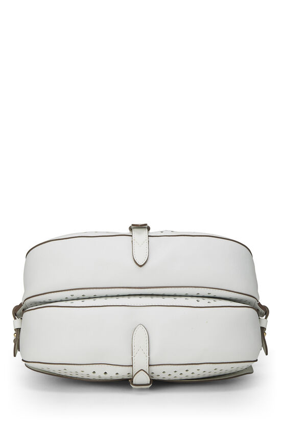 White Perforated Leather Saumur 30, , large image number 4