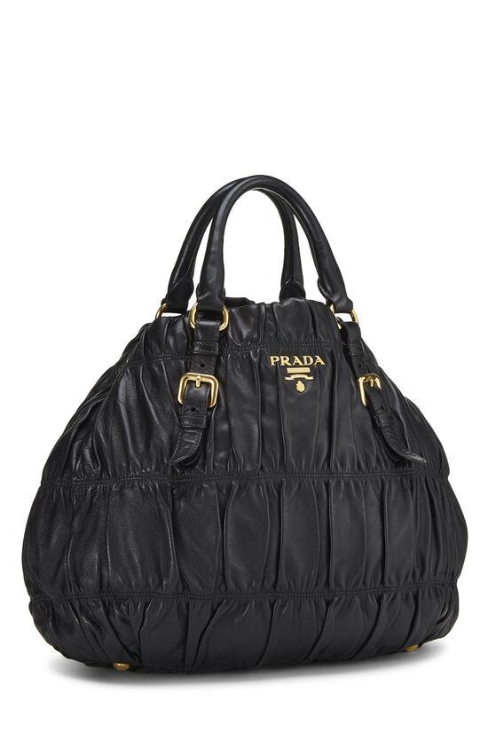 Black Nappa Gaufre Handbag, , large image number 1