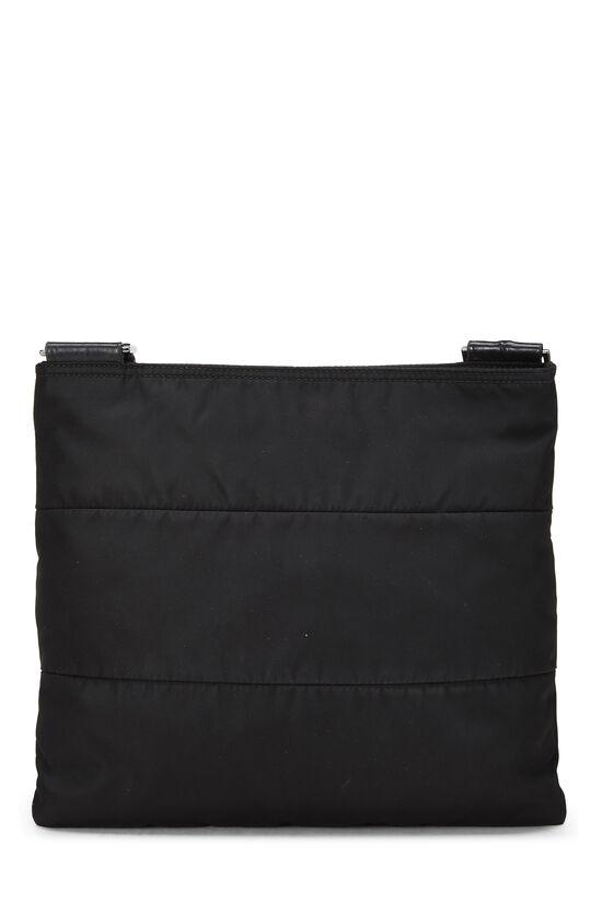 Black Nylon Shoulder Bag, , large image number 3
