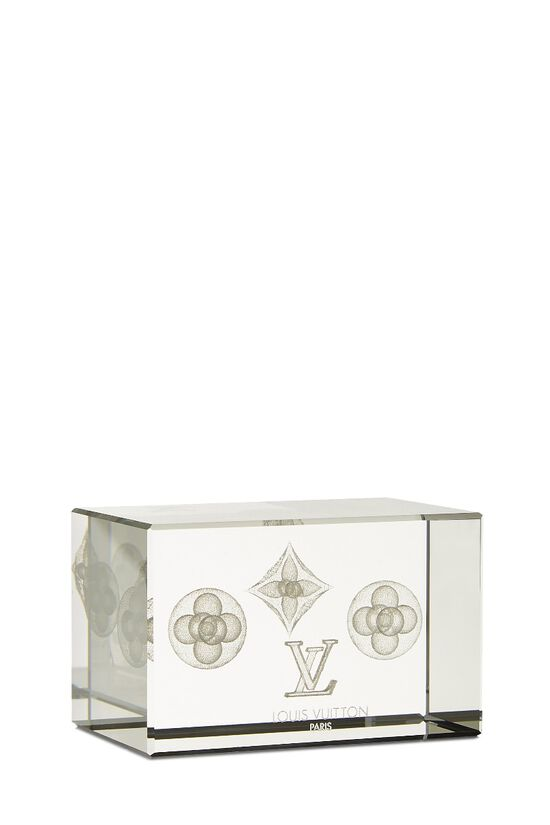 Clear Glass Monogram Paperweight, , large image number 1