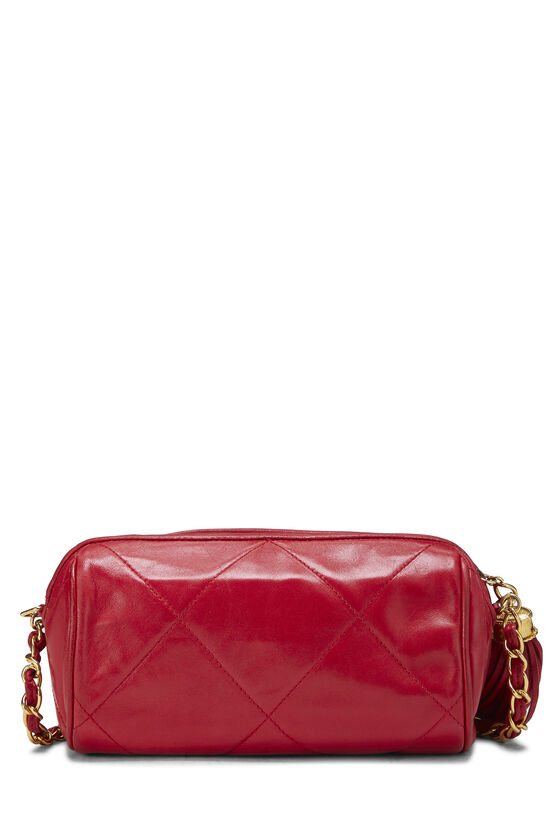 Red Quilted Lambskin Barrel Mini, , large image number 3
