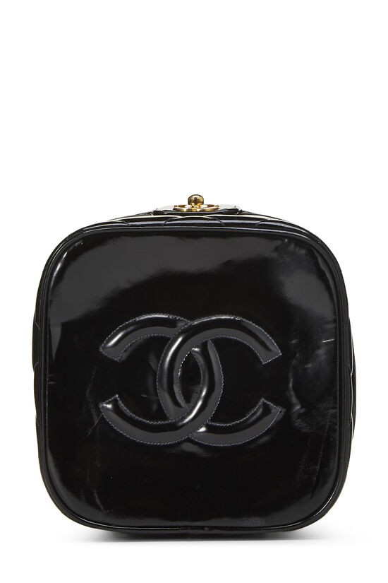 Black Quilted Patent Leather Vanity, , large image number 4