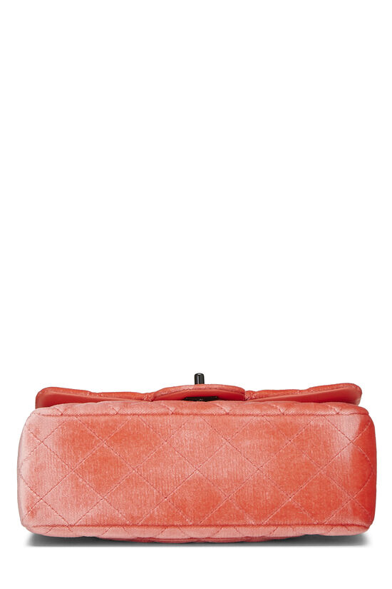 Coral Quilted Velvet Half Flap Small, , large image number 4