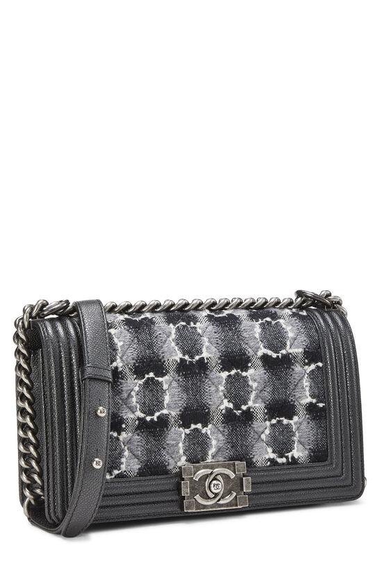Black Leather & Tweed Boy Bag Medium, , large image number 2