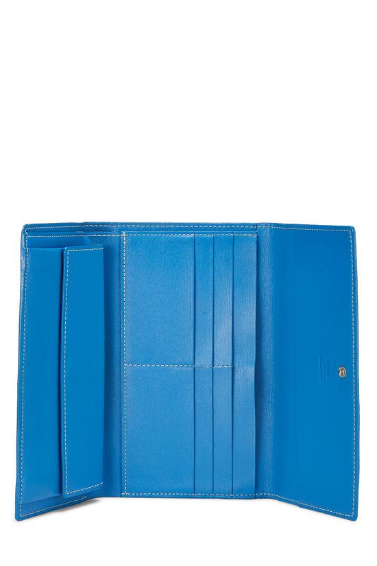 Blue Goyardine Canvas Flap Wallet, , large image number 3