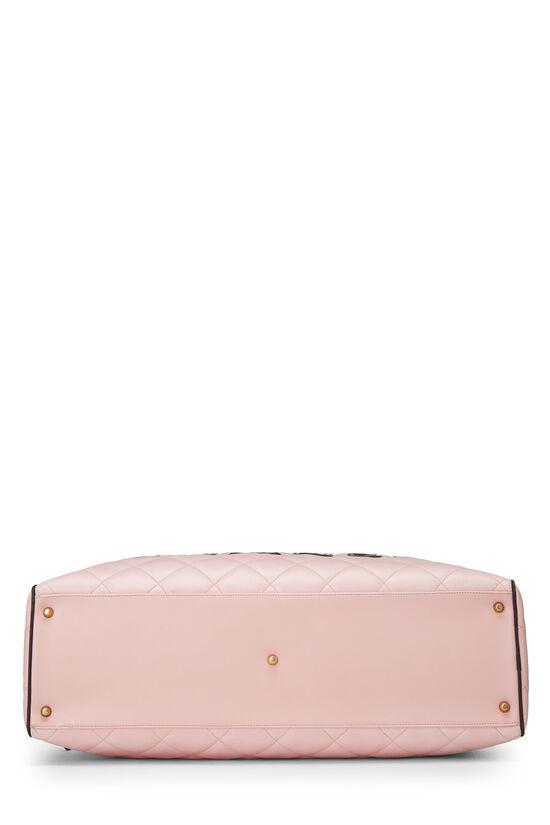 Pink Quilted Calfskin Bowler, , large image number 4