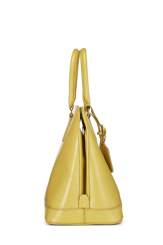 Yellow Vernice Saffiano Dome Tote, , large image number 2