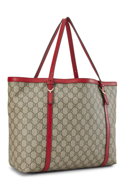 Red GG Supreme Canvas Nice Tote, , large