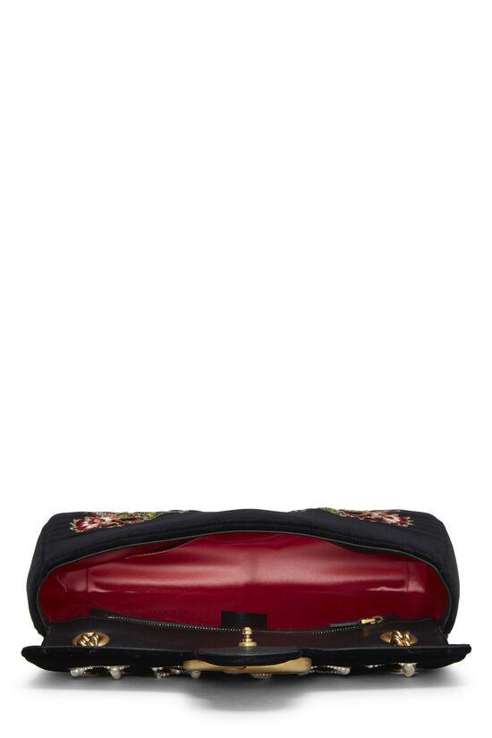 Black Velvet GG Marmont Loved Shoulder Bag, , large image number 5