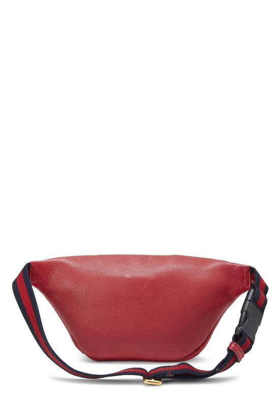 Red Leather Logo Belt Bag Small, , large image number 3