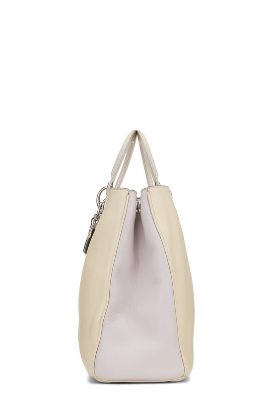 Cream Leather Diorissimo Large, , large image number 3
