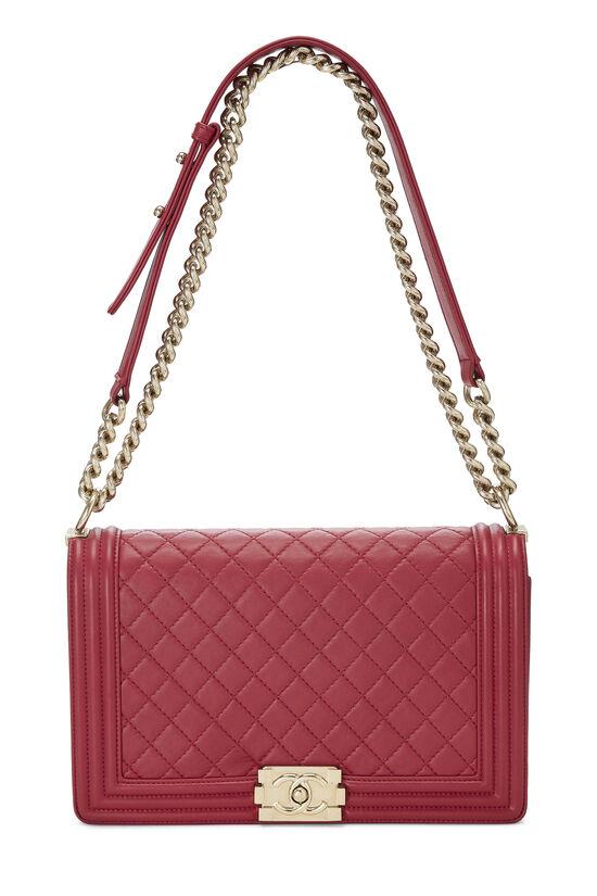 Pink Quilted Lambskin Boy Bag Medium, , large image number 1