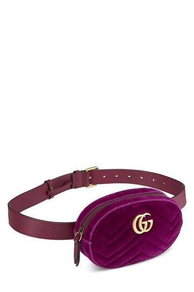 Purple Velvet Marmont Belt Bag Mini, , large
