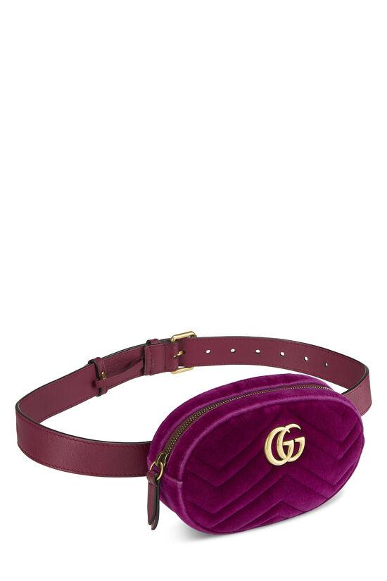 Purple Velvet Marmont Belt Bag Mini, , large image number 1