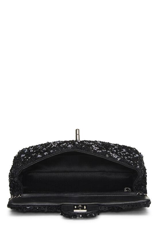 Black Sequin Half Flap Mini, , large image number 6