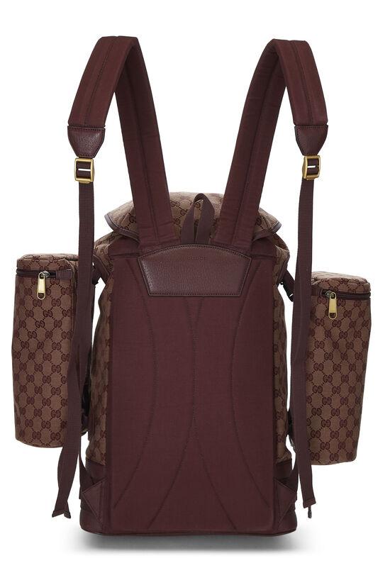 Burgundy GG Canvas Backpack Large, , large image number 3