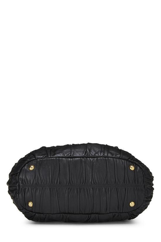 Black Nappa Gaufre Handbag, , large image number 4