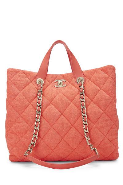 Orange Terry Cloth Coco Beach Shopping Bag
