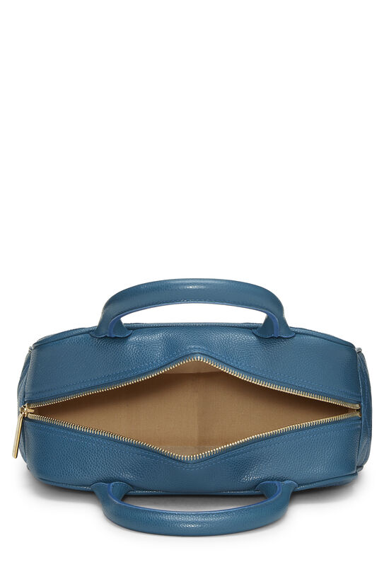 Blue Quilted Caviar Bowler Mini, , large image number 5