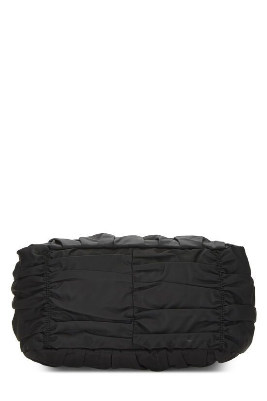 Black Tessuto Gaufre Tote, , large image number 4