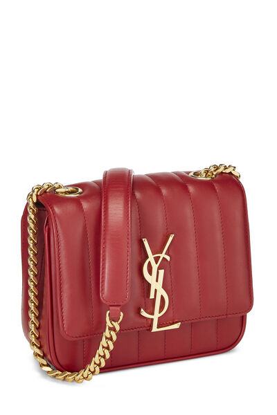 Red Quilted Lambskin Vicky Crossbody Small, , large